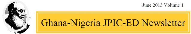 Logo Ghana-Nigeria JPIC-ED 2013 Newsletter 2