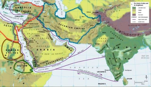 Pre-Islamic Arabia, including trade routes
