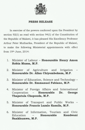 Cabinet Appointment 01
