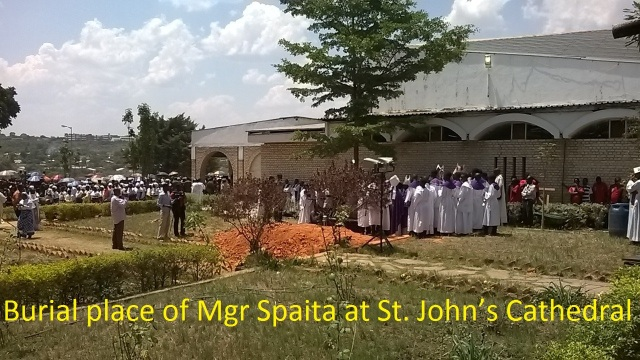 ARCHBISHOP JAMES MWEWA SPAITA burial site