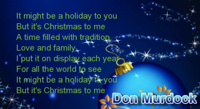 Don Murdock Christmas song A
