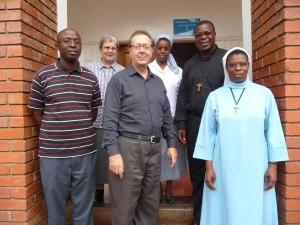 Br Charles Kabeta , Sr Flora Redder, Fr Serge St-Arneault, Sr Grace Fundafunda, Bishop Patrick Chisanga and Sr Anna Phiri