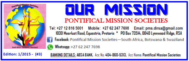 Pontifical Mission Societies SA Jan 2015