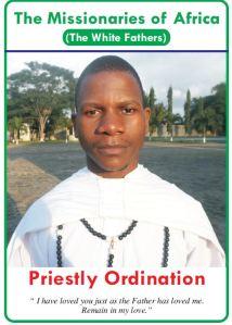 Paul Kitha Ordination card 2015