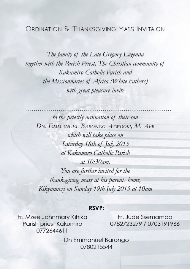 Invitation card Emmanuel  Barongo 2b