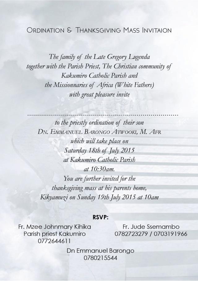 Invitation card Emmanuel  Barongo 2b