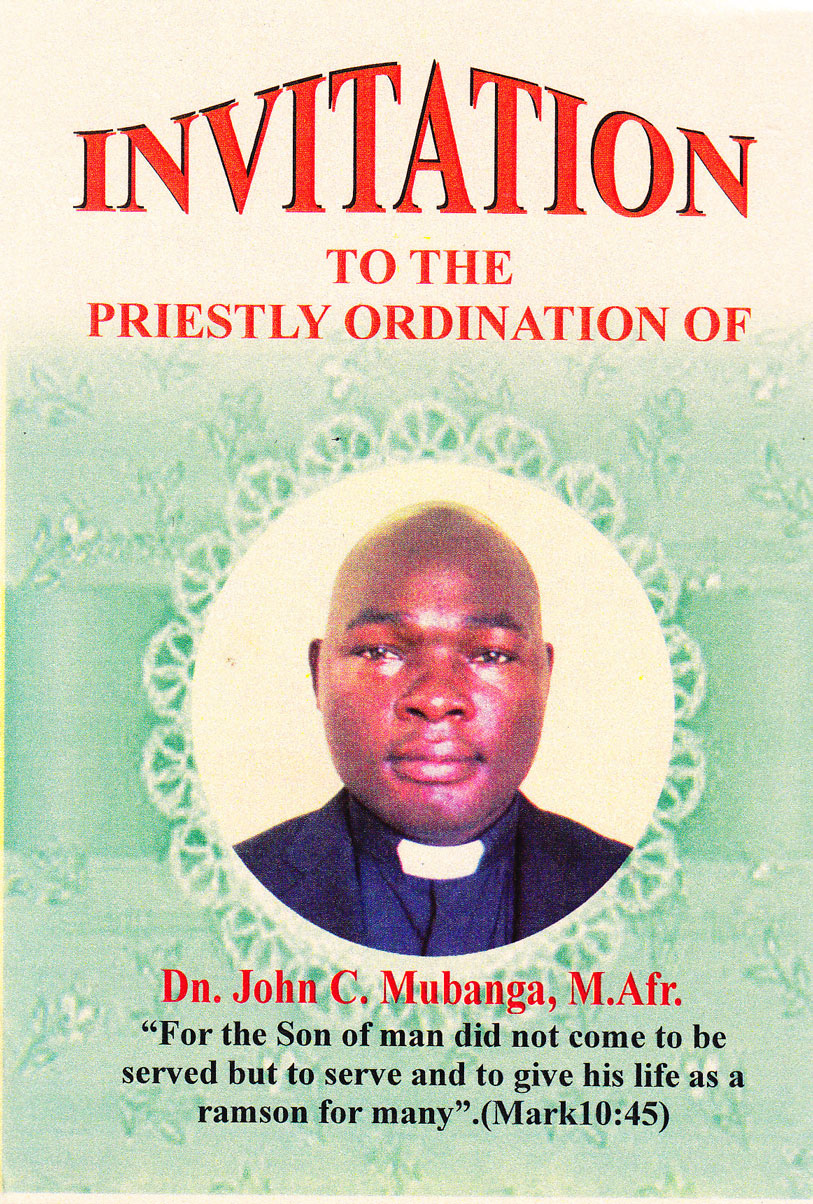 June 2015 Missionaries Of Africa Sap Province