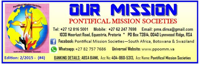 Pontifical Mission Societies SA Jan 2015-2