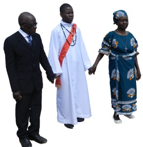 Paul Kitha and his parents