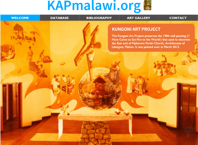 KAP Website Front page