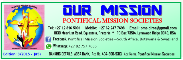 Pontifical Mission Societies SA 3-2015 No 5