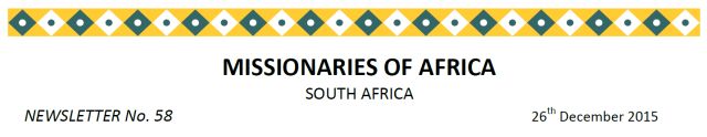 Newsletter South Africa no 58 title