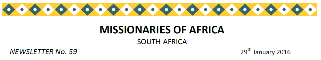 Newsletter South Africa no 59 title