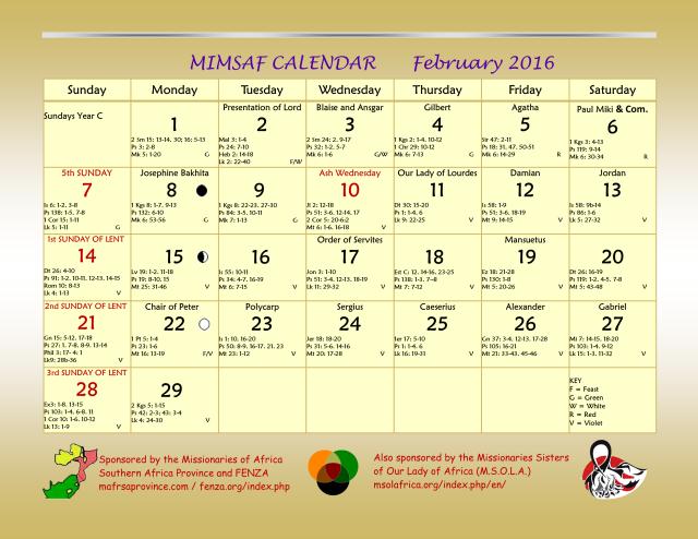 2016 MIMSAF Calendar 7