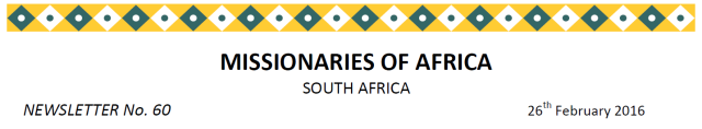 Newsletter South Africa no 60 title