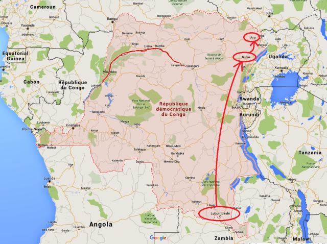 République Démocratique du Congo - Carte Google