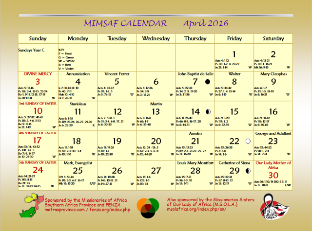Calendar Zambia Pdf : Missionaries of africa sap province page welcome