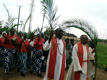 Palm Sunday in Lusaka - Procession 02