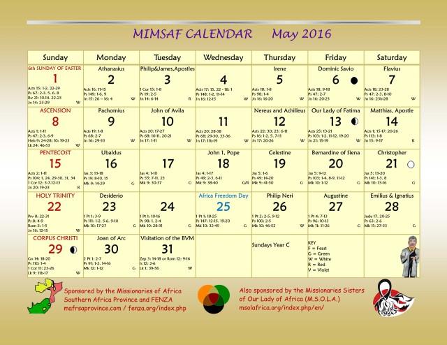 2016 MIMSAF May 2016