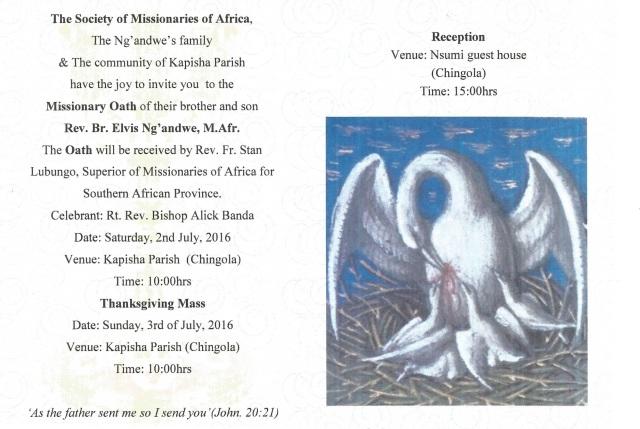 Invitation card Oath Elvis 2