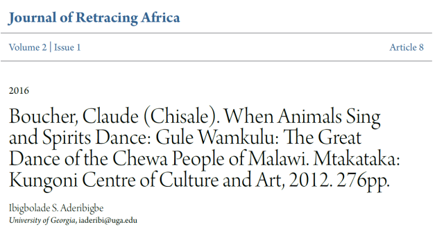 Journal of Retracing Africa
