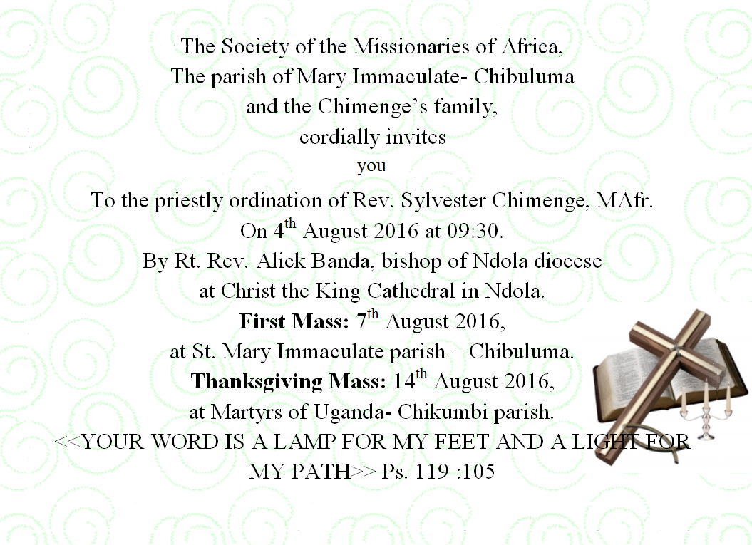 Priestly Ordination Missionaries Of Africa Sap Province