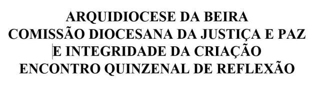 COMISSÃO DIOCESANA DA JUSTIÇA E PAZ
