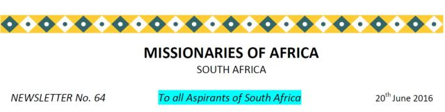Newsletter South Africa no 64 title