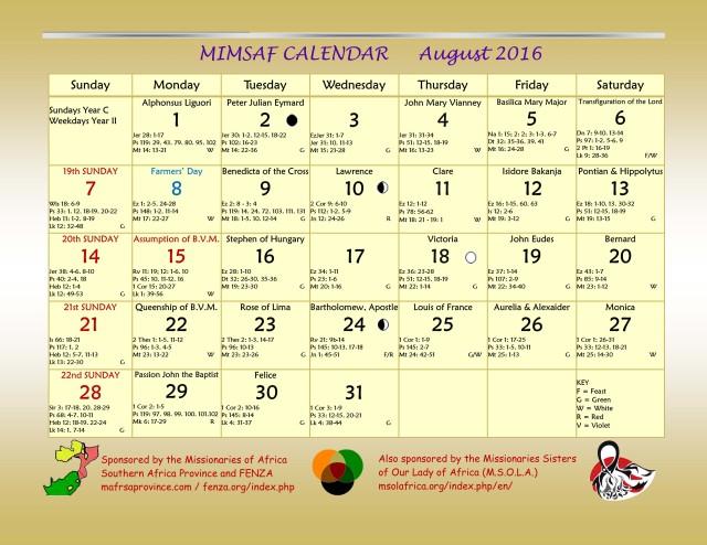 2016 MIMSAF August