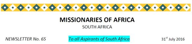 Newsletter South Africa no 65 title