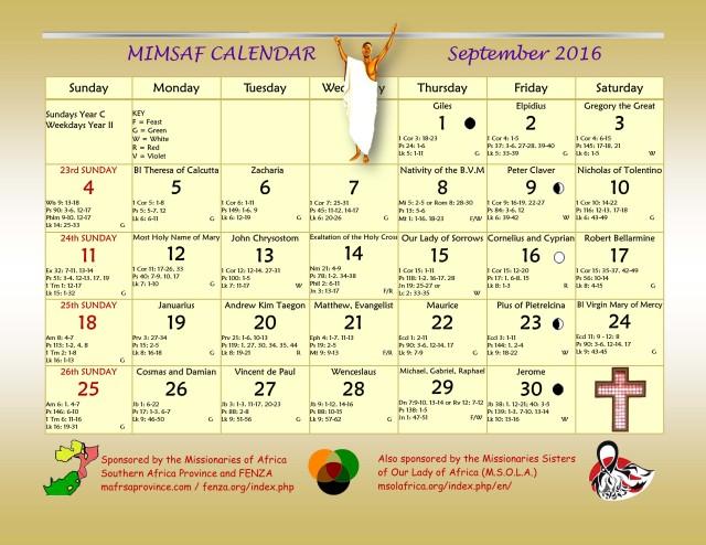 2016 MIMSAF Calendar Sept  2016