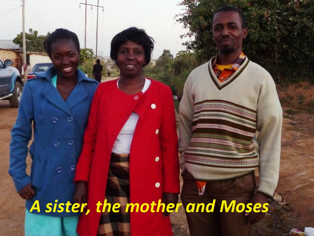 Moses Simukonde  and family