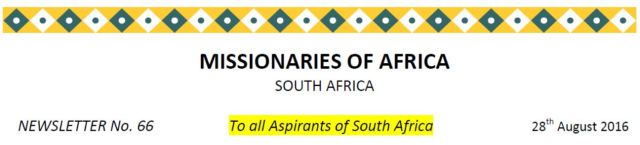 Newsletter South Africa no 66 title