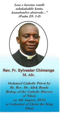 Rev. Fr. Sylvester Chimenge card